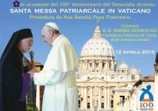 Slujba de Comemorare a Genocidului Armean la Vatican